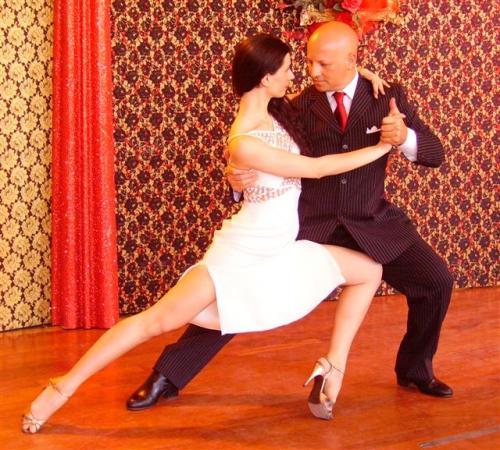 foto sul set  lezione di tango per dvd 1